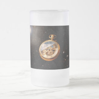 Clockmaker - Space time 16 Oz Frosted Glass Beer Mug