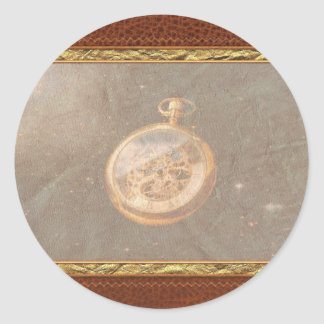 Clockmaker - Space time Classic Round Sticker