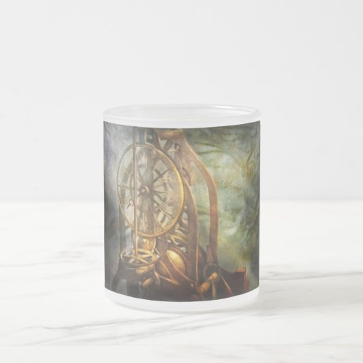 Clockmaker - The day time stood still Frosted Glass Coffee Mug