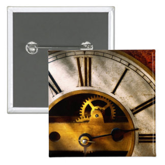 Clockmaker - What time is it Pinback Buttons