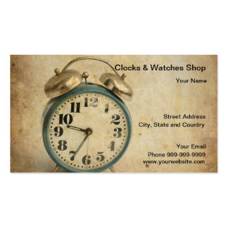 clocks and watches shop business card