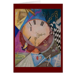 Clocks - greeting card/blank inside card