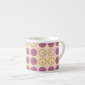 Clocks pattern espresso cup
