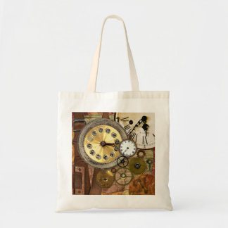 Clocks Rusty Old Steampunk Art Tote Bag