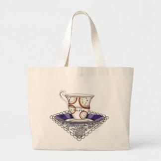 Clocks Teacup Bag