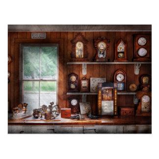 Clocksmith - In the Clock Repair Shop Postcard