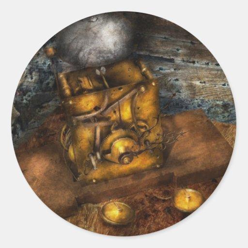 Clocksmith - un dispositivo que suena pegatina redonda