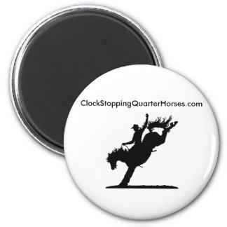 ClockStoppingQuarterHorses.com Imán Redondo 5 Cm