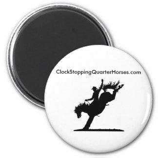 ClockStoppingQuarterHorses.com 2 Inch Round Magnet