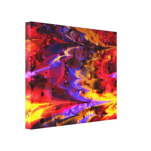 Clockwork 2 Wrapped Canvas