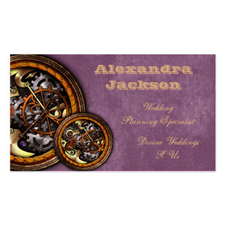 Clockwork and Leather, Business Card