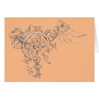 Clockwork Bryon Greeting Card