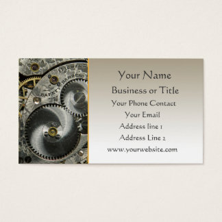 Clockwork Business Card Template