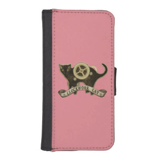"""Clockwork Cat"" wallet case (colours available) iPhone 5 Wallets"