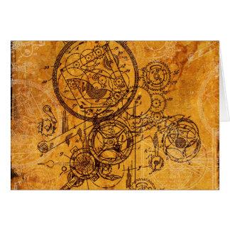 Clockwork Collage Card