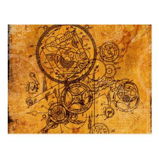 Clockwork Collage Post Cards