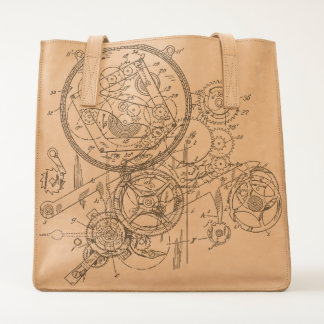 Clockwork Collage Tote