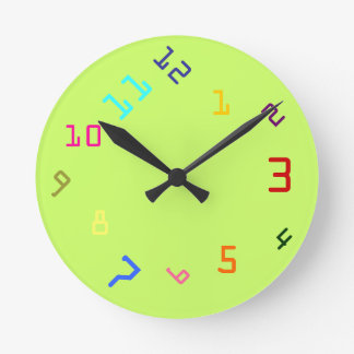 Clockwork Colours Round Clock