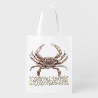 Clockwork Crab - Reusable Bag with Logo Reusable Grocery Bag