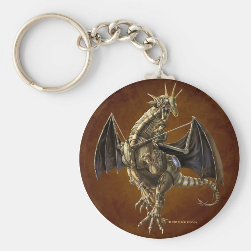Clockwork Dragon Keychain
