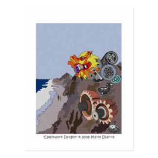 'Clockwork Dragon' Postcard