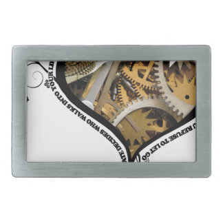 Clockwork heart design belt buckle