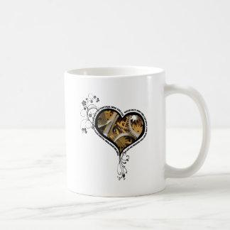 Clockwork heart design coffee mug