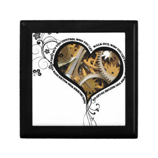 Clockwork heart design keepsake box