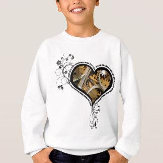 Clockwork heart design sweatshirt