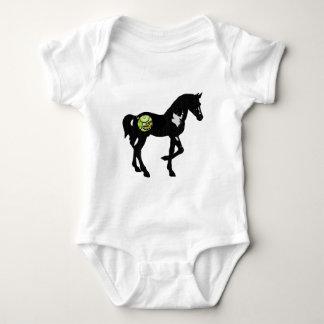 Clockwork Horse - Black with Gold Gears Baby Bodysuit