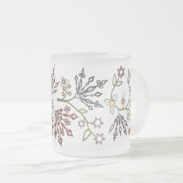 Clockwork Lace Frosted Glass Coffee Mug