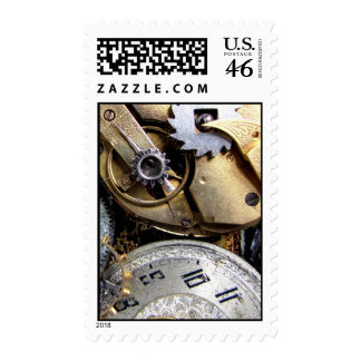 Clockwork Mail - Steampunk Postage Stamp gear 1