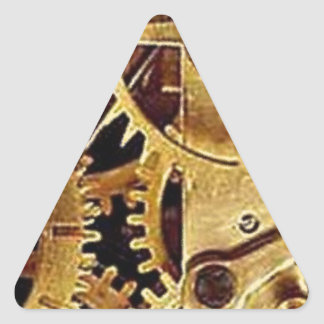 clockwork MECHANISM CLOCK Triangle Sticker