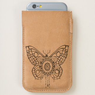 Clockwork Monarch Butterfly Leather Phone Slip iPhone 6/6S Case
