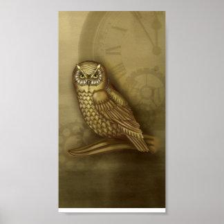 Clockwork Owl Print