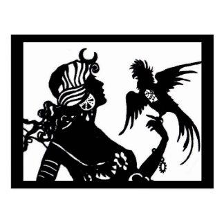Clockwork Parrot Postcard