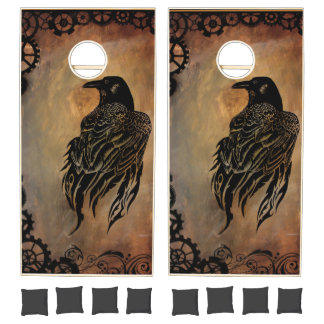 Clockwork Raven Cornhole Set