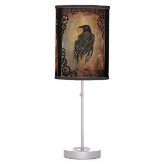 Clockwork Raven Desk Lamp