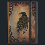 "Clockwork Raven iPad Air Cover<br><div class=""desc"">Raven on stone tile background. Clock gears al around border.</div>"