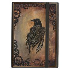 Clockwork Raven Ipad Air Cover at Zazzle