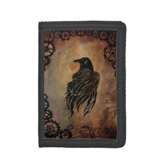 Clockwork Raven Trifold Wallet