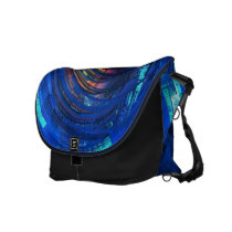 rainbow, fractal, apophysis, Rickshaw messenger bag with custom graphic design
