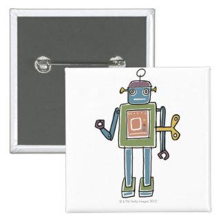 Clockwork Robot Button