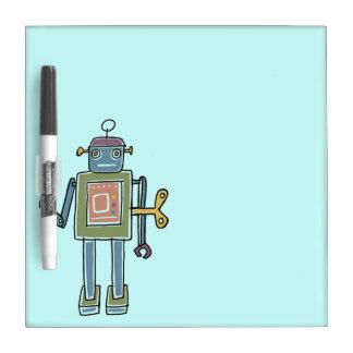 Clockwork Robot Dry-Erase Board