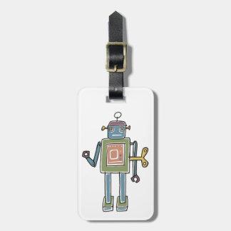 Clockwork Robot Bag Tag