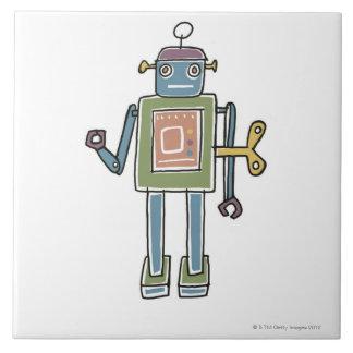 Clockwork Robot Large Square Tile