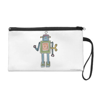 Clockwork Robot Wristlet Purse