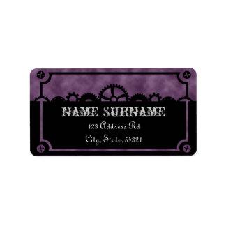 Clockwork Silhouette, wedding address labels