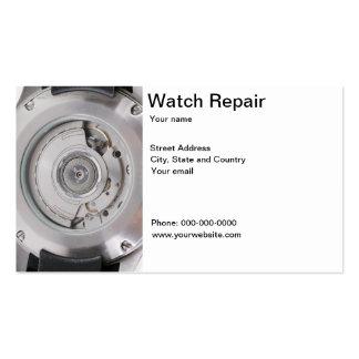 Clockwork, watch repair business card