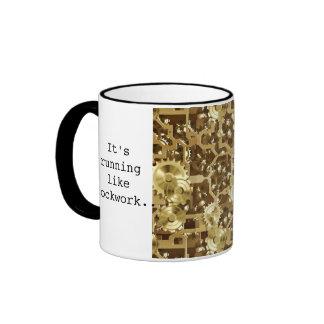 Clockworks Mug B&W with Quote #1